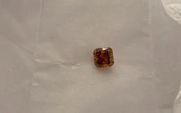 Diamante 1.32ct natural fancy vivid orange-yellow